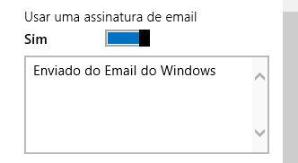 assinatura email widows